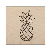 Clearsnap Rubber Stamp Wood Mount Pineapple