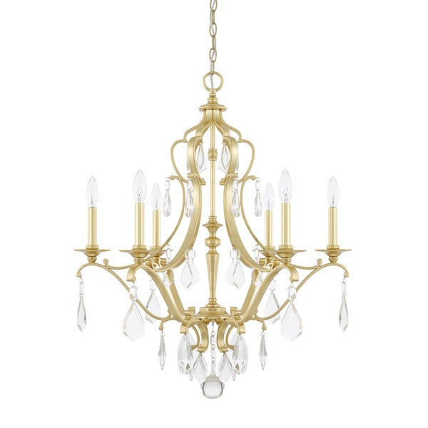 Capital Lighting Blakely Collection 6-light Capital Gold Chandelier