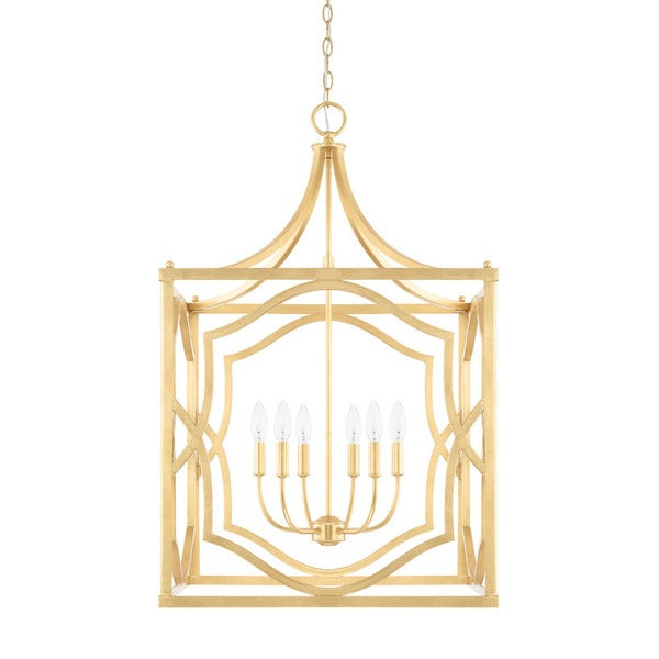 Capital Lighting Blakely Collection 6-light Capital Gold Foyer Pendant