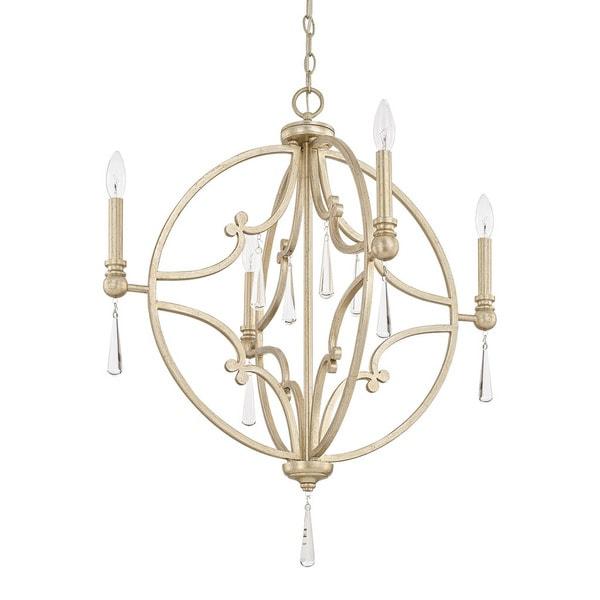 Capital Lighting Donny Osmond Mercer Collection 4-light Winter Gold Pendant