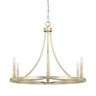 Capital Lighting Donny Osmond Mercer Collection 6-light Winter Gold Chandelier