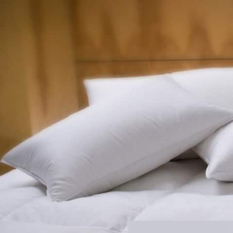 1221 Bedding Cotton Sateen Down Alternative Pillow (Set of 2) - White