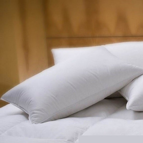 1221 Bedding Cotton Sateen Down Alternative Pillow (Set of 2) - White