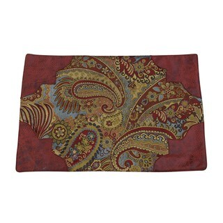 HiEnd Accents San Angelo Red/ Gold 14x20-inch Placemats (Set of 4)