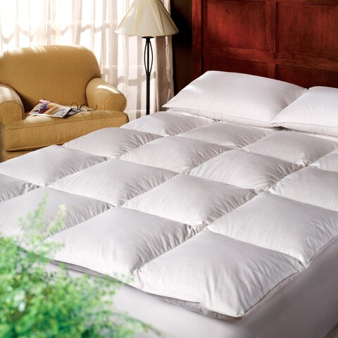 1221 Bedding Cotton 3-inch Down Alternative Fiber Bed Mattress Topper