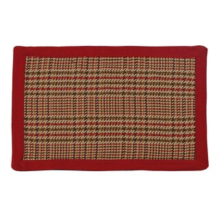 HiEnd Accents Bayfield Red and Brown 14x20 Placemat