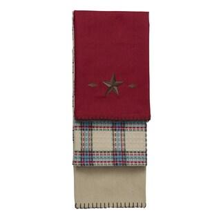 HiEnd Accents 3-Piece Star Kitchen Towel Set Red