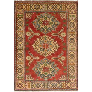 ecarpetgallery Finest Gazni Red  Wool Rug (3'4 x 4'10)