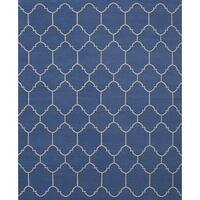 ecarpetgallery Ankara Kilim Blue  Wool Kilim (8'3 x 10'0)