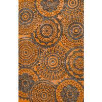 ecarpetgallery Atlantis Orange Wool Rug - 5'0 x 8'0