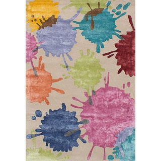 ecarpetgallery Aviva Yellow Wool, Art Silk Rug (4'0 x 6'0)