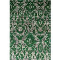 ecarpetgallery Sari Silk Green  Sari Silk Rug (5'2 x 7'5)
