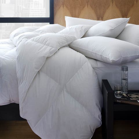 1221 Bedding Cotton Sateen European White Goose Down Comforter