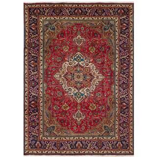 ecarpetgallery Persian Vintage Red Wool Rug (7'11 x 11'1)