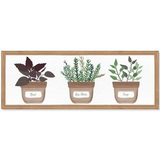 Oliver Gal 'Herbs' Framed Art