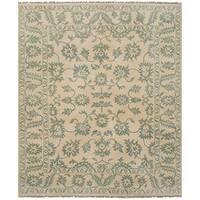 ecarpetgallery Royal Ushak Ivory  Wool Rug (8'1 x 9'10)