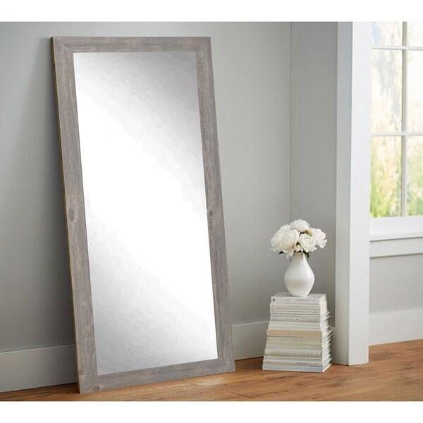 Multi Size BrandtWorks Urban Frontier Barnwood Floor Mirror ...