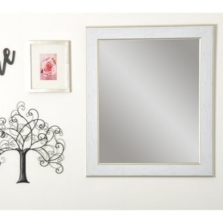 Multi Size BrandtWorks Gold Trimmed Legacy Wall Mirror - White/Gold
