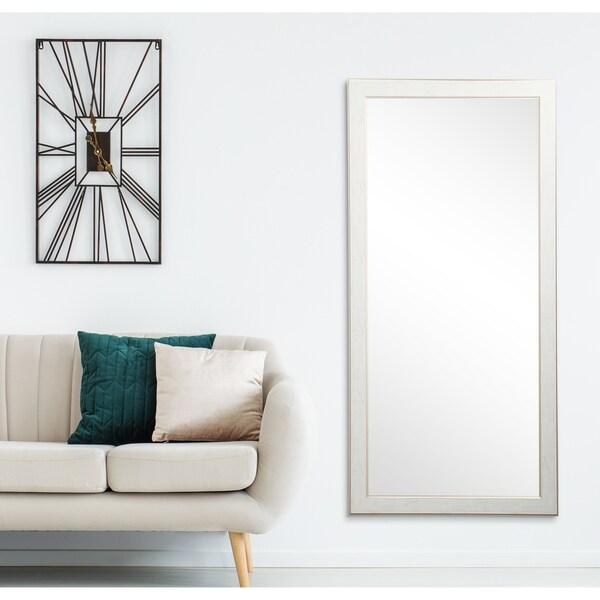 BrandtWorks Gold Trimmed Legacy Floor Mirror - White/Gold