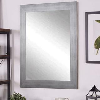 Multi Size BrandtWorks Timberwolf Silver Wall Mirror - Silver/Grey