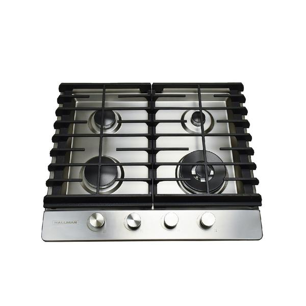 a8625cb576f 24 in. Gas Cooktop in Stainless Steel with 4 Burners including a Tri-Ring