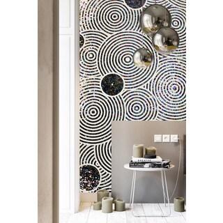 ANT Tile Customizable Ripple Hand Cutting Glass Mosaic Wall Art Design