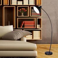 #1547BLK 62 in. Modern Metal Arched Floor Lamp in. Matte Black