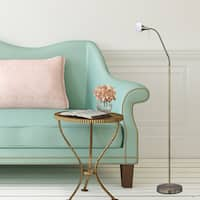 #1556AB 56-64 in. Metal Floor Lamp in an Antique Brass Finish