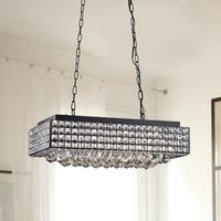 Elba 8 Light Black Crystal Chandelier