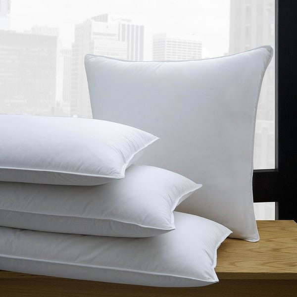 1221 Bedding 650 Fill Power White Down Pillow