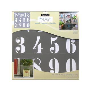 Decoart Americana Decor Stencil 18x18 Numbers