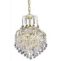 Living District Avery Collection Gold 3-Light Pendant