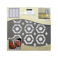 Decoart Americana Decor Stencil 18x18 Ikat Hexagon