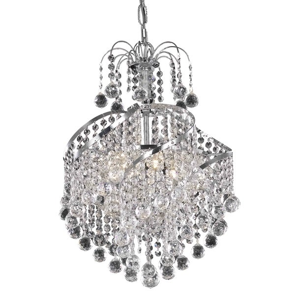 Living District Avery Collection Chrome 3-Light Pendant