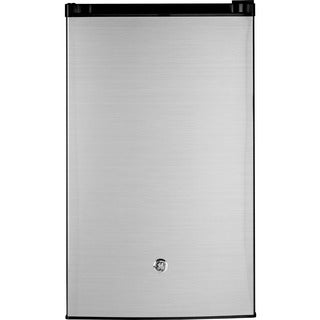 GE 4.4 Cu. Ft. Compact Refrigerator, Stainless Steel