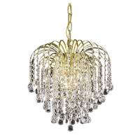 Living District Addison Collection Gold 3-Light Pendant