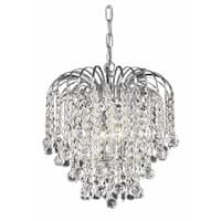 Living District Addison Collection Chrome 3-Light Pendant