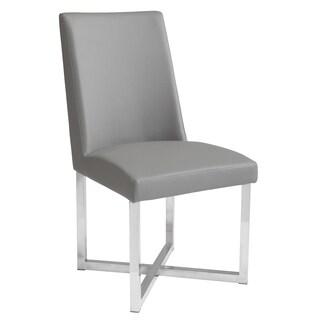 Sunpan Howard Grey Faux Leather Dining Chair