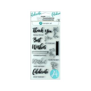 Hampton Art Clear Stamp Layer Words