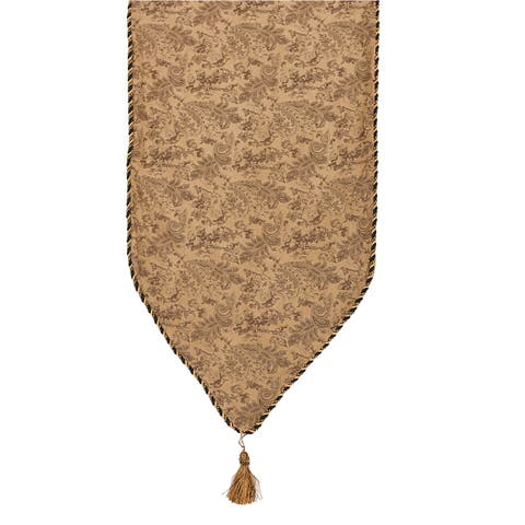HiEnd Accents Small Paisley Runner 13 X 72 Light Tan