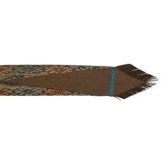 HiEnd Accents Del Rio Chenille Brown/Blue 16-inch x 72-inch Table Runner