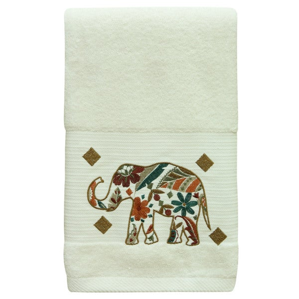 Boho Elephant Towel Set by Bacova