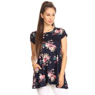 Women's Floral Pattern Short Sleeve Top