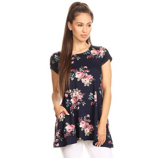 Women's Floral Pattern Short Sleeve Top