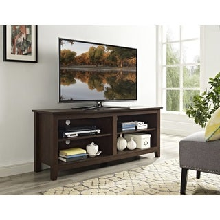 "58"" Wood TV Media Stand Storage Console - Traditional Brown"