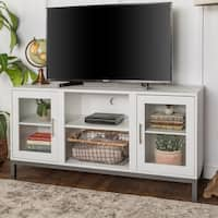 Porch & Den Dart 52-inch Wood TV Console with Metal Legs