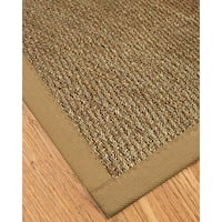 Natural Area Rugs Handcrafted Mayfair Natural Seagrass Rug - Black Binding (2' x 3')