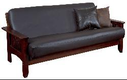Faux Leather Futon Cover