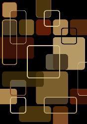 nuLOOM Omega Collection Geometric Modern Black Rug (5'3 x 7'6) - Thumbnail 1