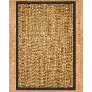 "Natural Area Rugs Handcrafted Everest Natural Seagrass Runner Rug Fudge Binding (2'6"" x 8')"